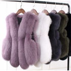 SF0482 Fur Manufacturer Fashion Style Best Selling Real Fox Fur Vest