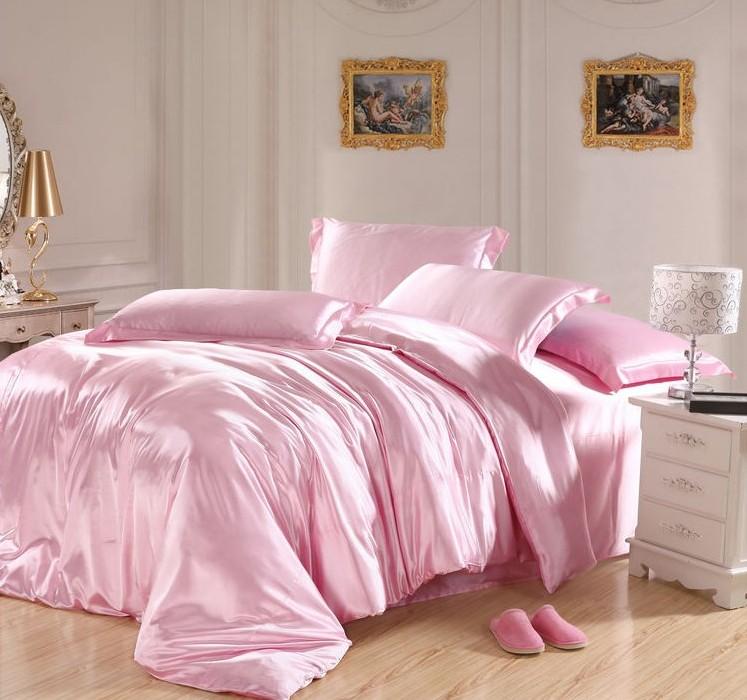 popular solid light pink comforter buy cheap solid light pink comforter lots from china solid. Black Bedroom Furniture Sets. Home Design Ideas