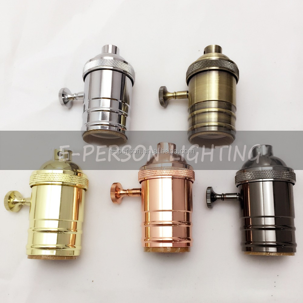 Solid Brass Cooper E27 Light Socket Antique Vintage Edison Industrial Lamp