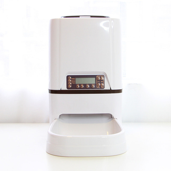 Automatic Cat Feeder 6L Pet Feeder Dog Food Dispenser Time and Meal Size Programmable, LCD Display and Meal Call Recorder