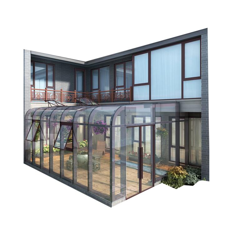 Китай, прочный, Лидер продаж, алюминиевый профиль, рама, для улицы, элегантная Солнечная комната/зимняя садовая комната с закаленным стеклом
