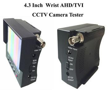"4.3"" Wrist TFT LCD CCTV Tester Coaxial HD TVI Analog Video Test 12V Power Output Cable Test Camera Tester"