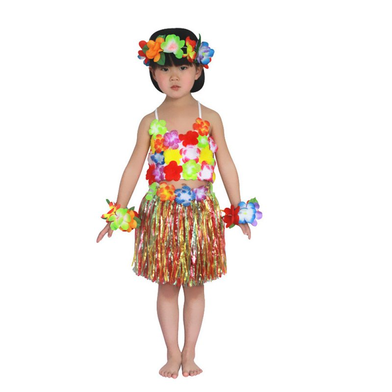 5Pcs Hawaiian font b Fancy b font font b Dress b font Hula Grass Skirt W