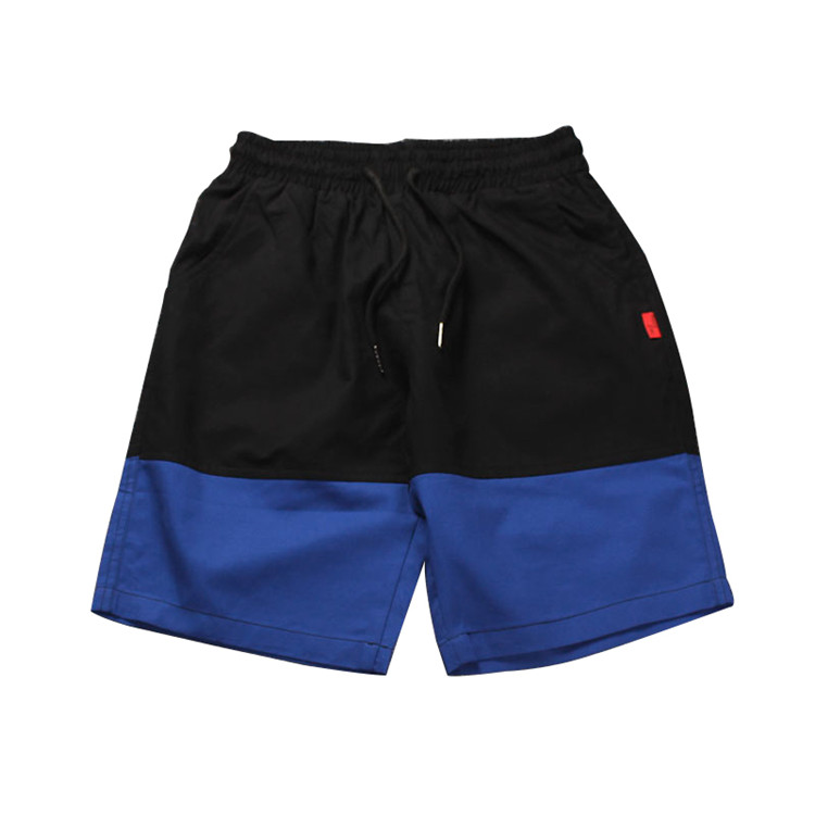 Индивидуальные мужские высококачественные двухцветные повседневные шорты оптом хлопковые спортивные шорты для мужчин