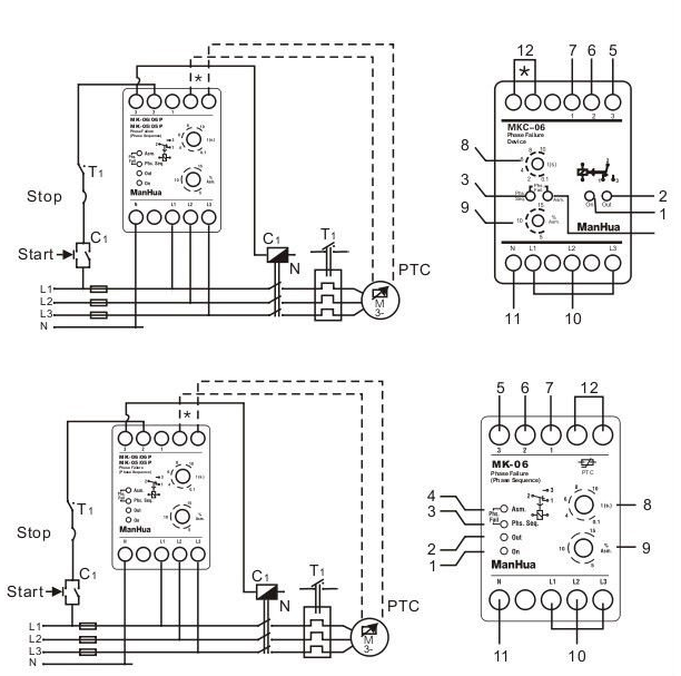 Factory Direct Phase Failure Relay Mkc-05