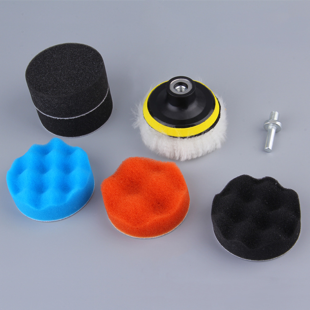 EDFY 7pcs Gross Polishing Buffing Pad Kit For Auto Car