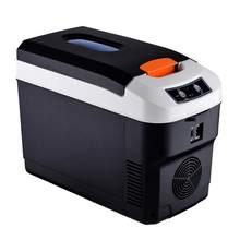 Мини-холодильник 10л, Электрический кулер и обогреватель для дома и автомобиля, уличный холодильник для кемпинга, портативный кулер 12 В(Китай)