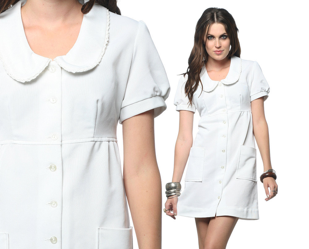 White Nursing Uniform 25