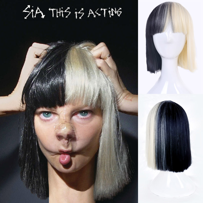 sia with wig new 35cm short straight cosplay fashion sia Design a Bathroom Layout Tool Design a Bathroom Layout Tool