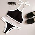 Summer Tank Top Halter Tankini Sexy Bikini 2016 Colorblock Bathing Suit 2 pcs Swimming Suit For