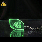 Islamic Green Islamic Blue Red Green Glow Glass Crystal Light Keychain