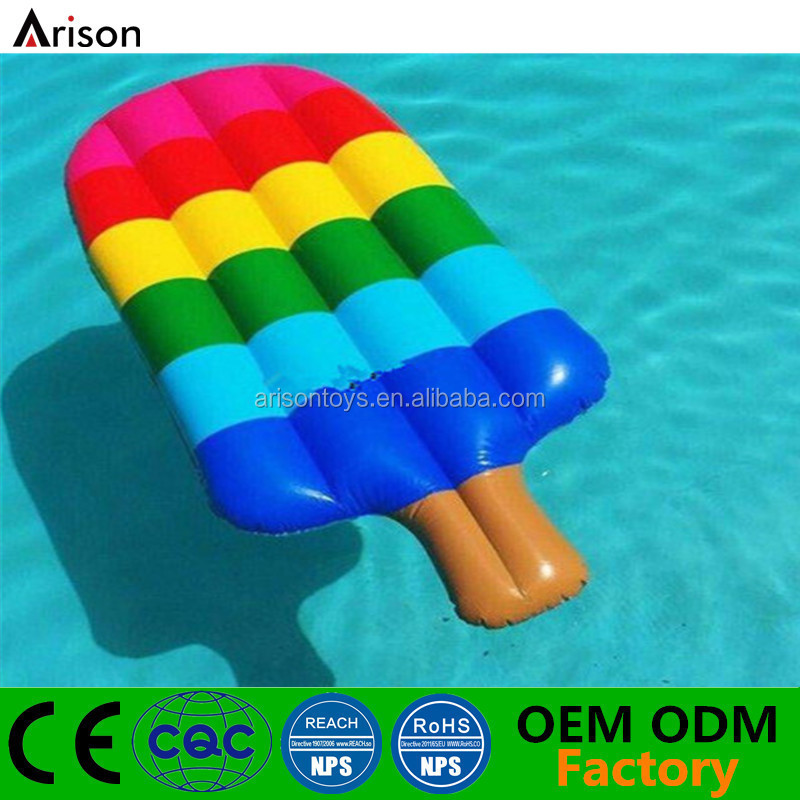Colourful Ice Lolly Shaped Inflatable Swimming Pool Float Lounger Air Mattress