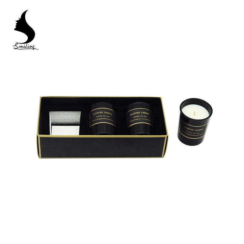 Wholesale Christmas Gift Box Luxury Soy Wax Candles Private Label Freesia Sage Scented