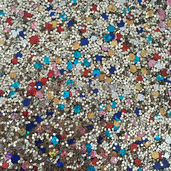 2020 Dream Star glitter PU leather for woman shoes