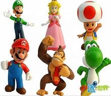 6 PC Super Mario Bros Action Figures Toy Set Giocattolo del PVC Figure per I Bambini e Adulti Premium Torta Toppers Grande geek Regalo