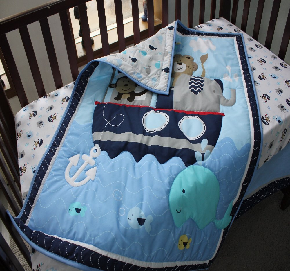 Baby Boy Cotton Fabric Quilt Crib