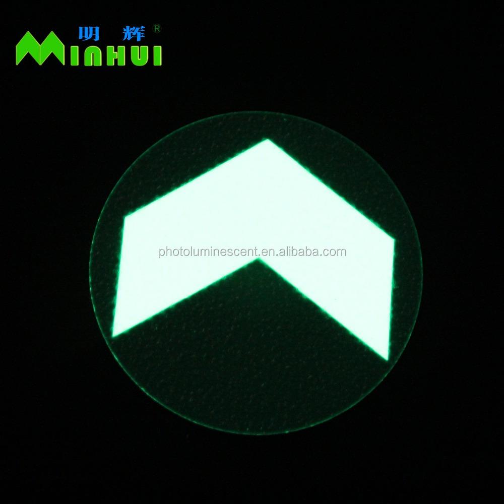 Photoluminescent Circle Floor Marker With Aluminum Material