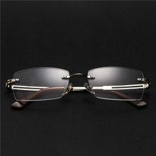 Сплав, мужские оправы для очков, модные квадратные прозрачные оптические оправы без оправы, оправы для очков # F-151(Китай)