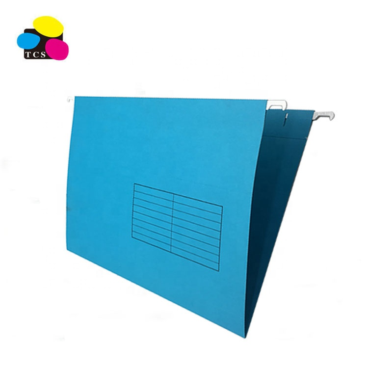 High Quality Customize Logo Blue Color A4 Size Conference Paper Suspension Hanging File Folder For Office School