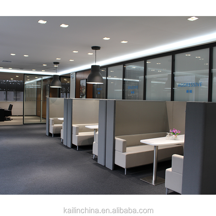 Office private meeting sofa high back chatting sofa commercial chatting area morden soundproof meeting pod negotiate