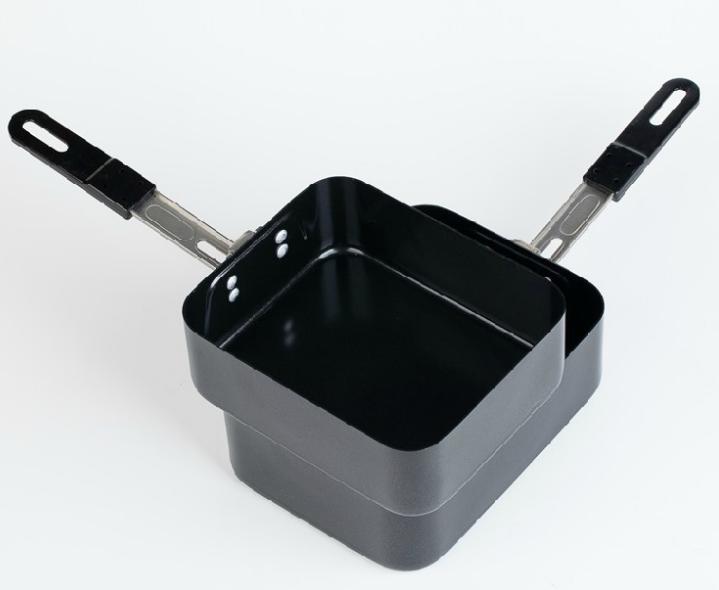 Наборы Twins, нелипкий Алюминиевый Беспорядок, оловянный черный цвет, складная ручка, набор из 2 предметов, уличный военный кемпинг, приготовление пищи