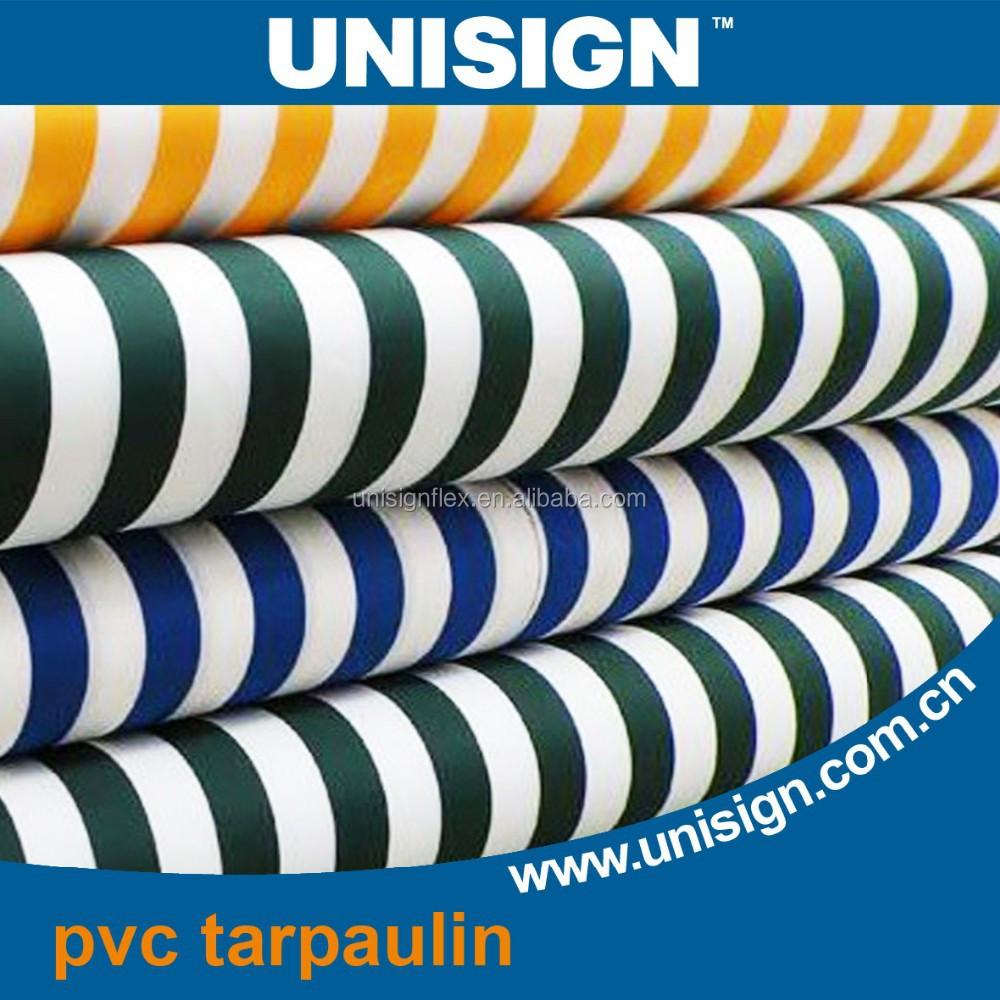 Высококачественный цветной полосатый брезент с ламинированным ПВХ покрытием, рулон брезента
