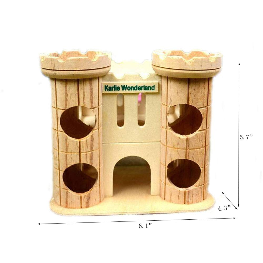 Fantastic Dwarf Hamster House Durable Odorless Non Toxic Deluxe Hamster House Natural Living Wood Castle Small Animal Playground Chew Toy Ocoug Best Dining Table And Chair Ideas Images Ocougorg