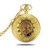 Twin opening brilliant metal mechanical steampunk pocket watch , pocket watches men