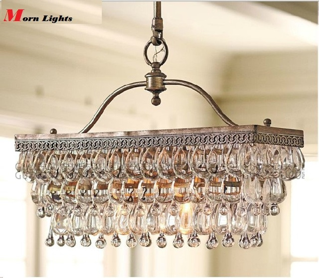 Antique Style Dining Room Chandeliers: Aliexpress.com : Buy Antique Rectangular Crystal Dining