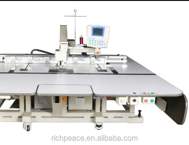 Richpeace T-shirt jeans Automatic Template Sewing Machine for down jacket