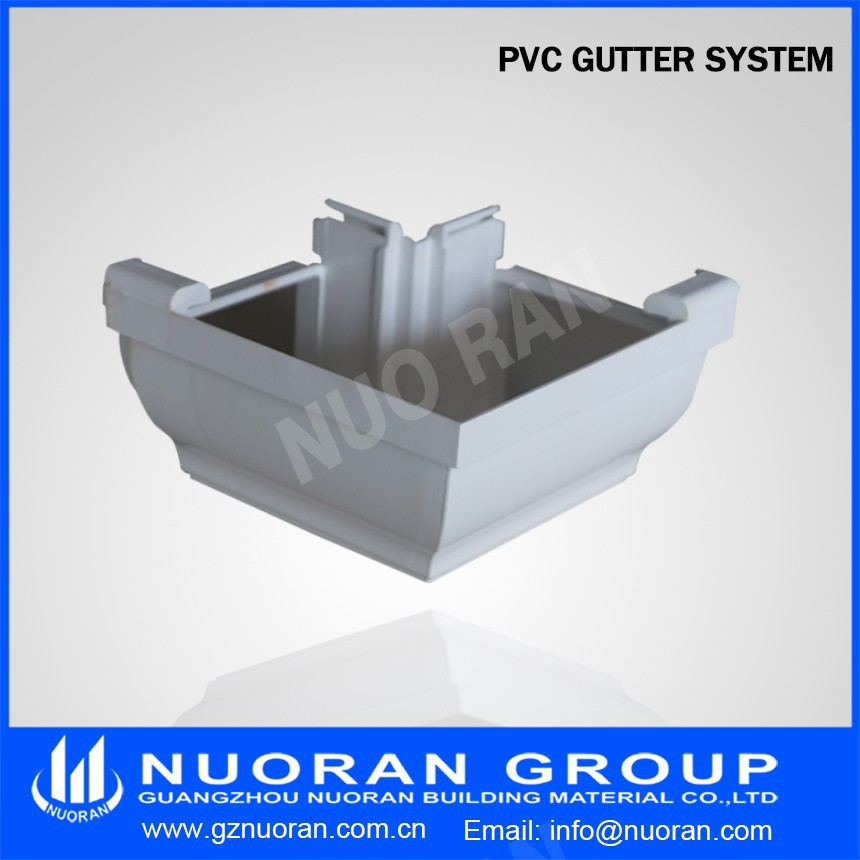 K Type White Brown Grey Black Pvc Gutter Rain Gutter