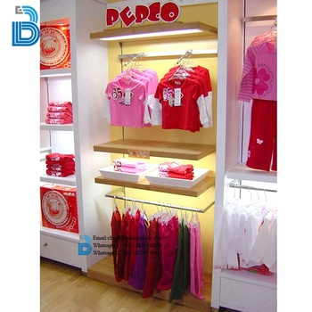 Kids Garments Shop Decoration Rack Clothing Display Clothing Boutique Furniture
