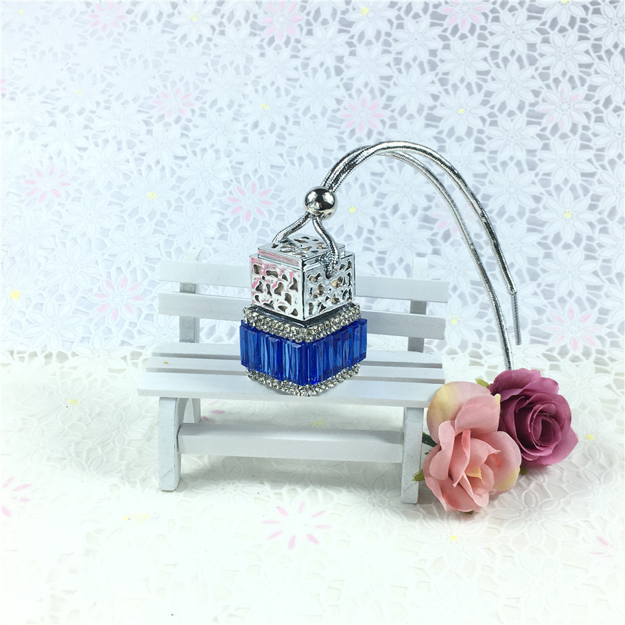 Empty hanging car perfume bottle diffuser/perfume for use fragrance air freshener parts accessory interior decor