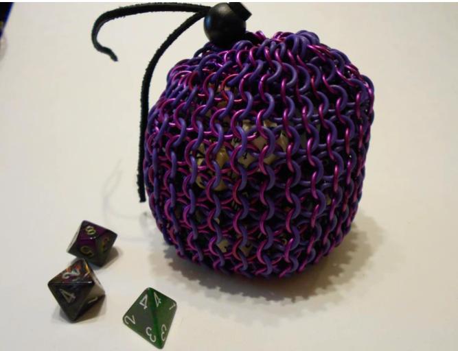 Игровая сумка для костей Chain Mail, Лидер продаж, аксессуары из нержавеющей стали для ювелирных изделий, Сетчатая Сумка, сумка для винной бутылки