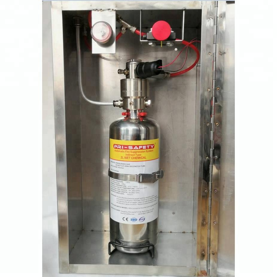 Automatic Wet Chemical Kitchen Fire Suppression System With Stainless Steel Box View Kitchen Fire Suppression System Pri Safety Product Details From Hangzhou Pri Safety Imp And Exp Co Ltd On Alibaba Com