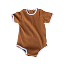 Fashion Maxi Baby Rompers Jumpsuits Wholesale Short Sleeve Plain Dyed Baby Clothes