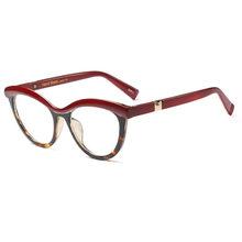 SO & EI Модные Женские оправы для очков кошачий глаз оптический Ретро прозрачные линзы женские очки могут быть оснащены очками для близорукос...(Китай)