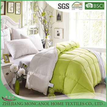 Hot selling hollow fibre filling cheap quilts and comforters