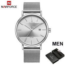 Часы NAVIFORCE, роскошные брендовые кварцевые часы, простые мужские и женские часы, водонепроницаемые мужские и женские часы, набор часов для па...(China)