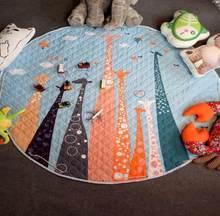 Мягкий игровой коврик для детей 150 см, детский коврик для игр, коврик для ползания, коврик для ползания, мешок для мусора, сумка для хранения и...(Китай)