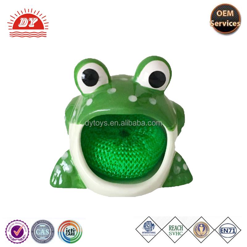 Kitchen Decor Rubber Frog Sponge Holder