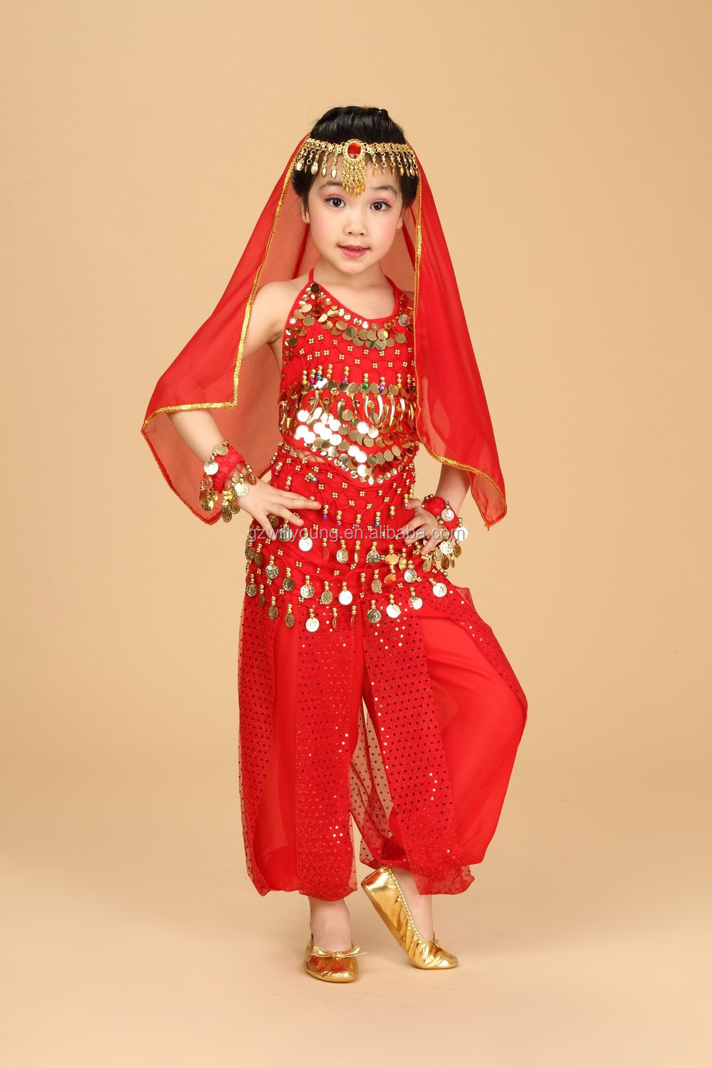 Lovely Pretty Children Belly Dance Kids Costumes High