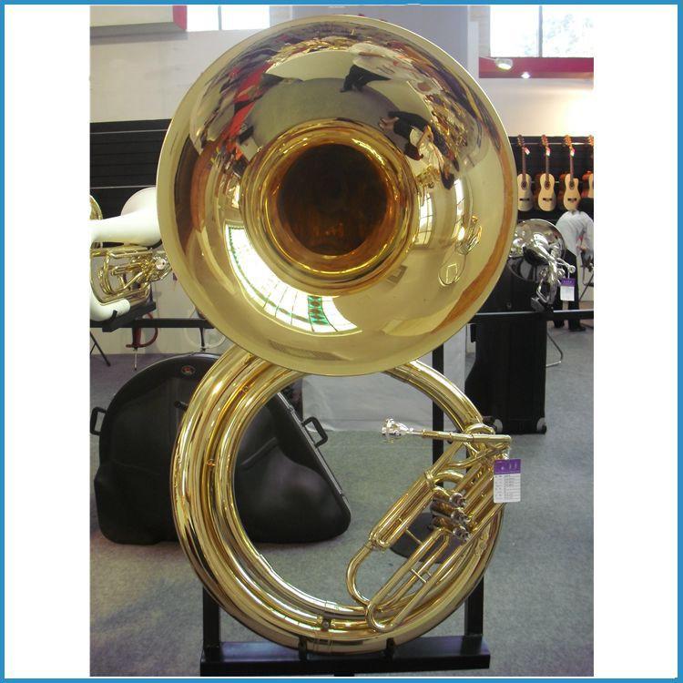 Золотой лак Bb key sousaphone, c key china sousaphone, латунный sousaphone