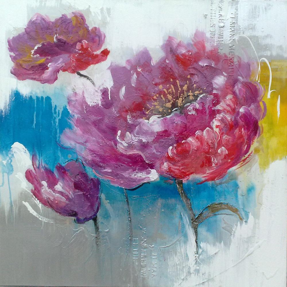 Grand Peintures De Fleurs Moderne Toile Art Fleur