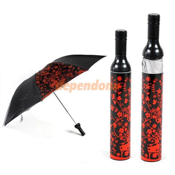 Портативный творческий мода три складной бутылки вина - Зонт подарок