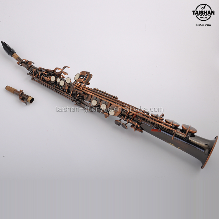 High quality TSSS-650P Antique Copper Soprano Saxophone