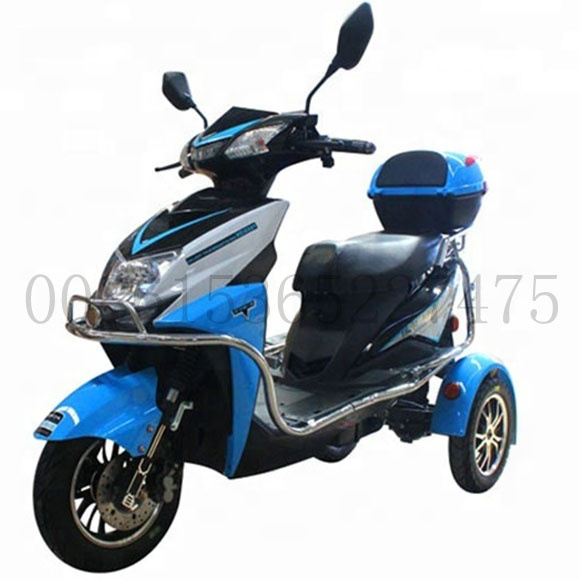 Дешевые инвалидов трехколесного велосипеда мощный портативная рация 3 колеса литиевая батарея мобильность электрический скутер инвалидности с padals для взрослых/пожилых людей