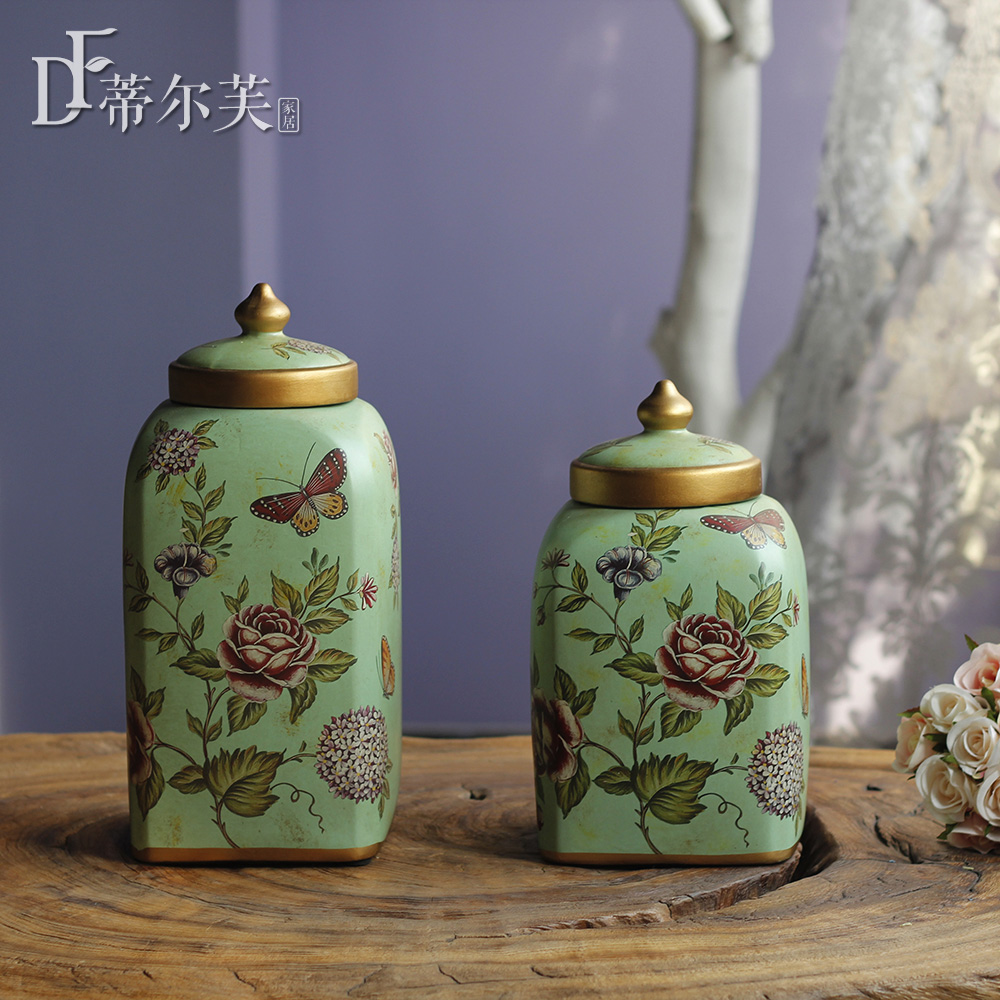 decoration / flowers containing round tip cover storage storage tank / Wedding altar Home Furnishing exquisite.