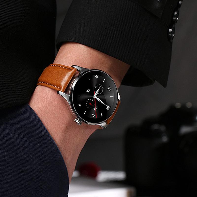 Lemfo K88 Bluetooth Smart Watch Classic Health Metal Smartwatch Heart Rate
