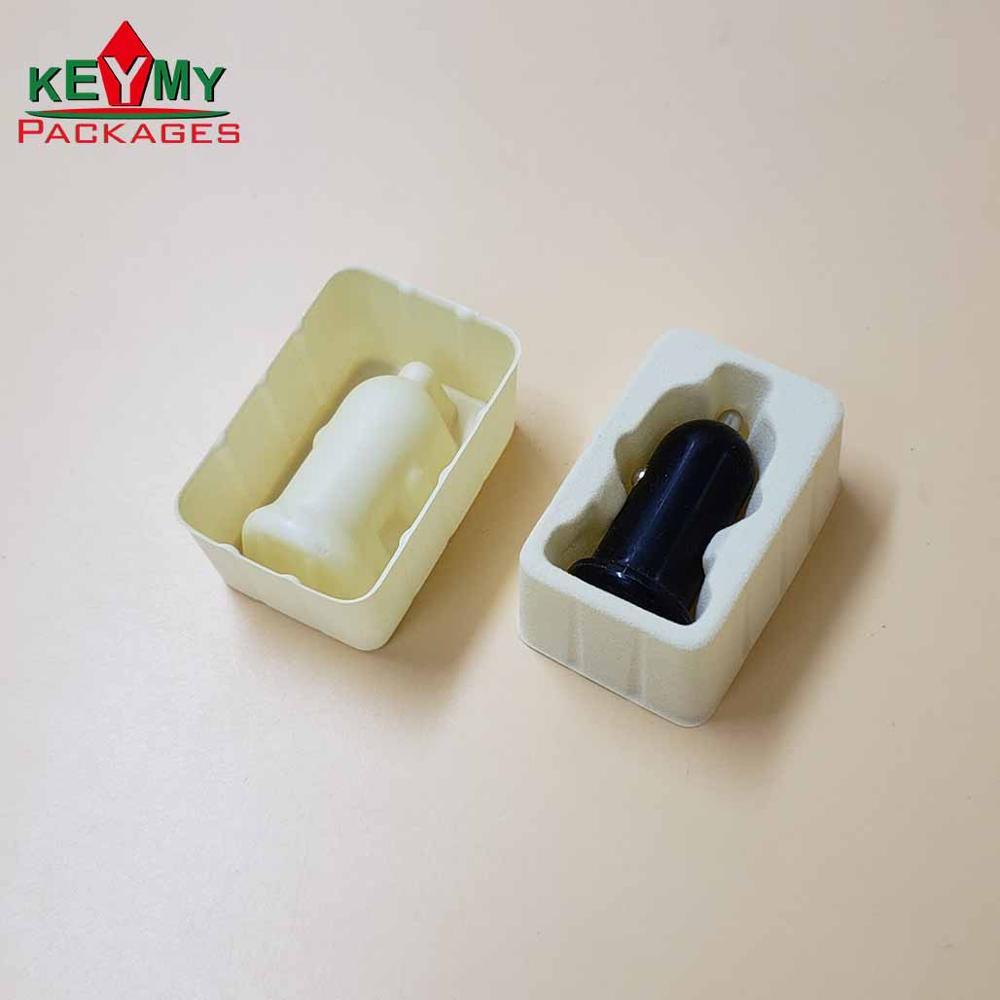Индивидуальный экологичный Флокированный блистерный лоток для упаковки зарядного устройства